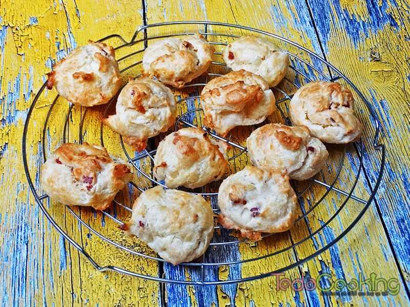 Gougères de queso con jamón 04