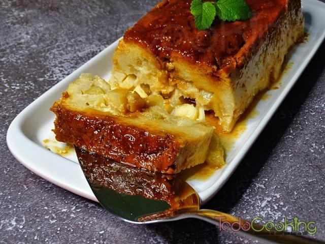 Pudin de pan con manzana 03