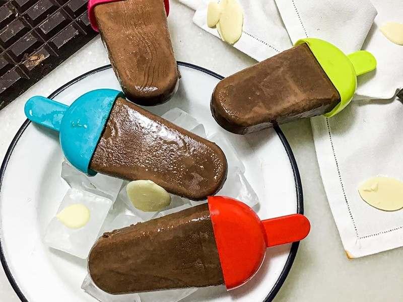 Recetas de helados y polos caseros. polos de chocolate