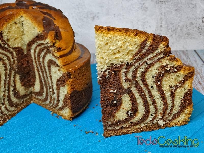 Bizcocho Cebra de chocolate y vainilla 02