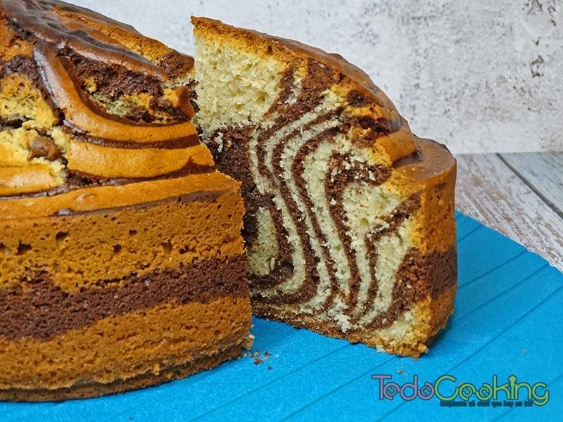 Bizcocho Cebra de chocolate y vainilla 03