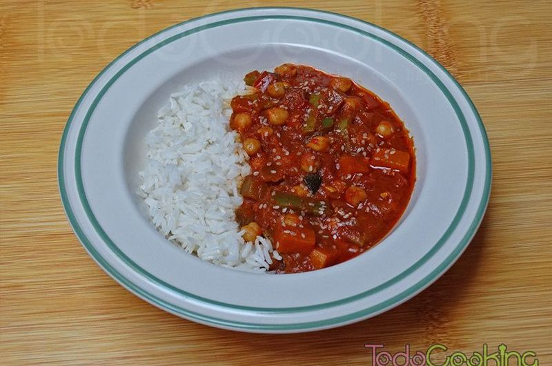 Curry Thai de garbanzos con calabaza 01