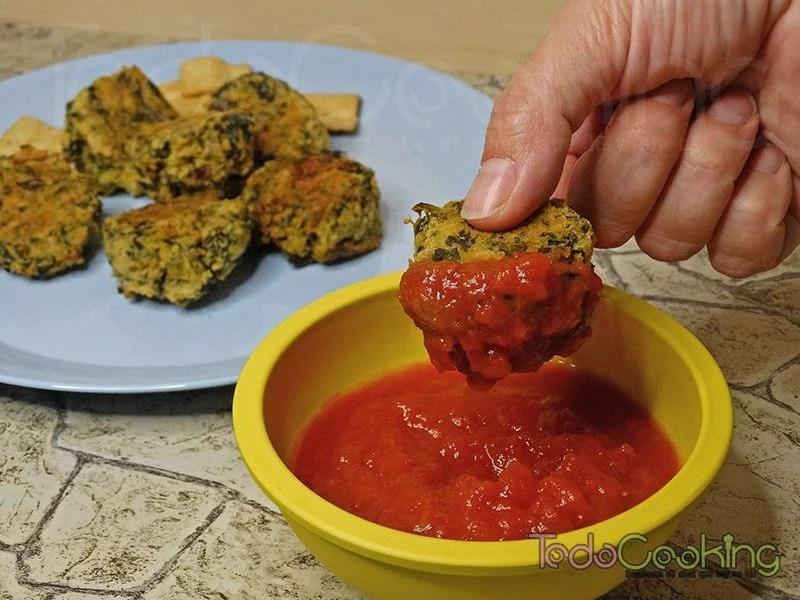 Falafels de espinacas al horno. Receta sin gluten y vegetariana.