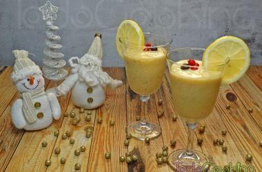 Smoothie granizado tropical con limón y jengibre 03