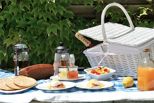 Picnic al aire libre. Foto: The Good Food Company
