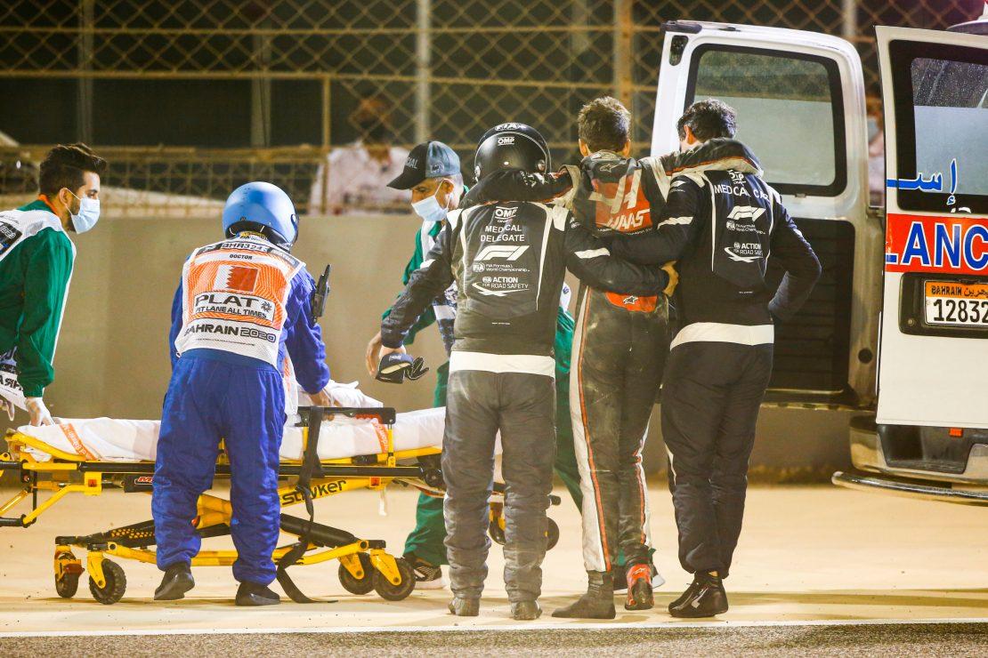 Accidente Grosjean Bahrein 2020