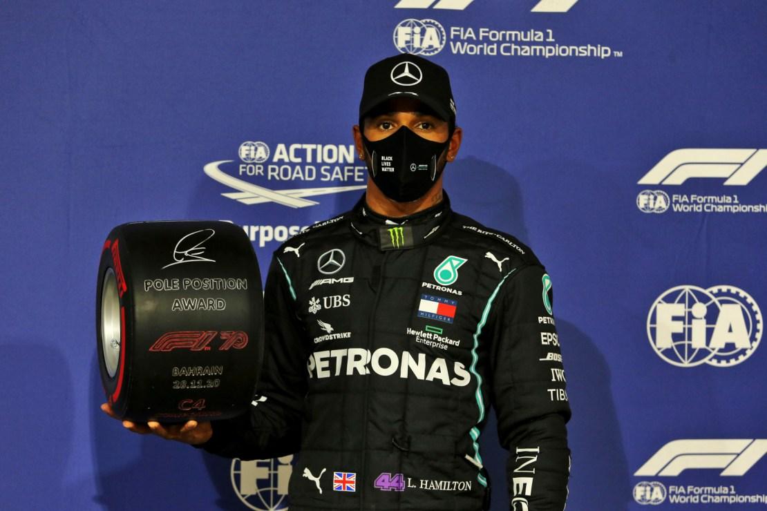 Hamilton pole Bahrein 2020