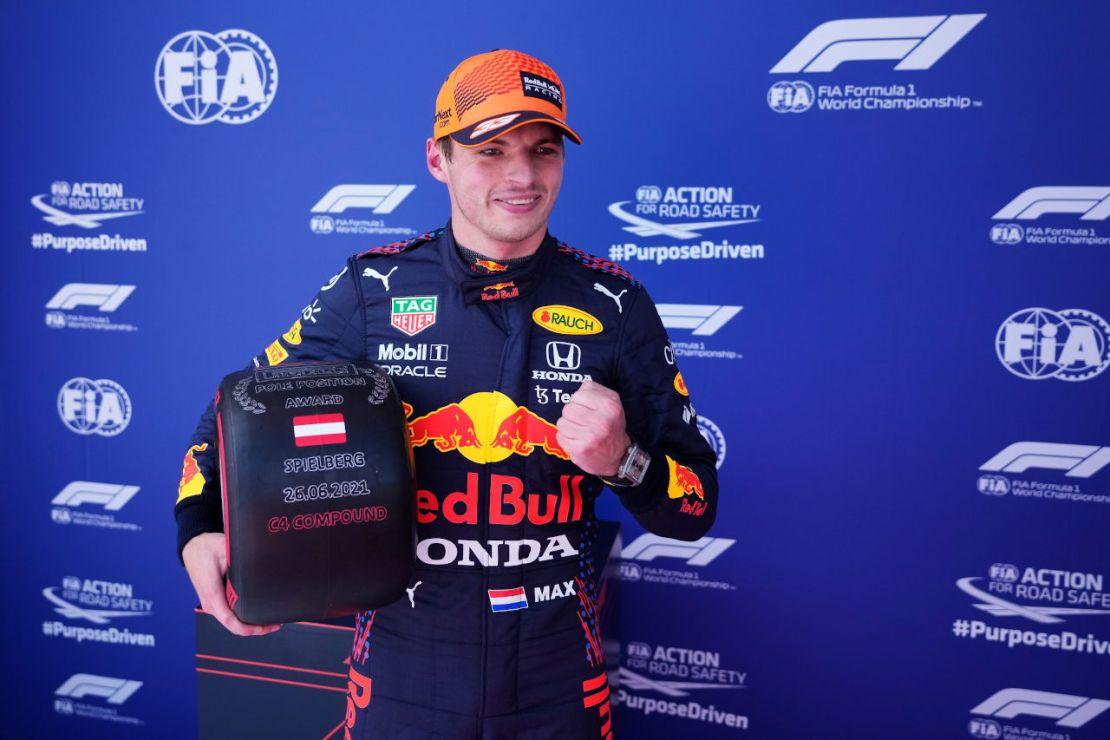 Pole Verstappen Red Bull Ring 2021