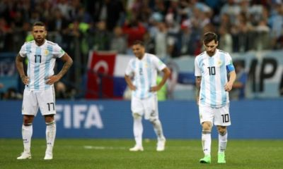 Argentina cayó ante Croacia y quedó muy cerca de la eliminación en Rusia 2018.