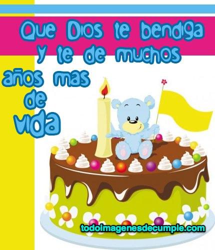 imagenes de cumpleaños dios te bendiga