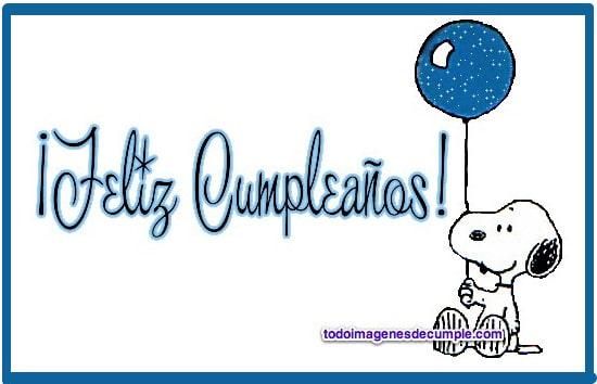 imagenes de cumpleaños con Snoopy