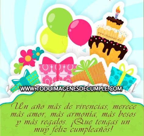 imagenes de feliz cumpleaños con globos pasteles y regalos