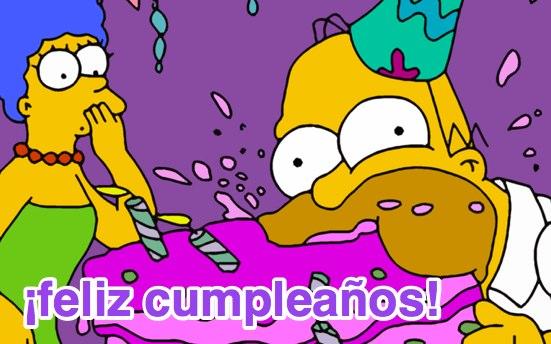 imágenes de cumpleaños con los simpson