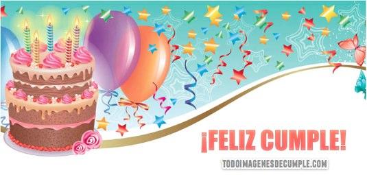imagenes de cumpleaños con pastel y globos