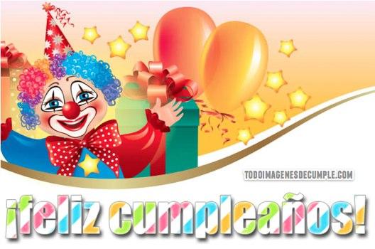 imagenes de feliz cumpleaños con payasos y globos
