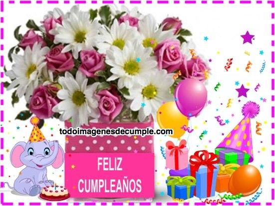 Imágenes De Feliz Cumpleaños Con Flores, Regalitos Y