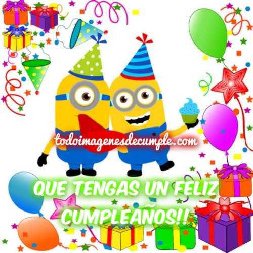imagenes de feliz cumpleaños con los minions para descargar