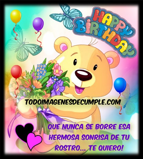 imágenes de feliz cumpleaños_ Que nunca se borre tu sonrisa