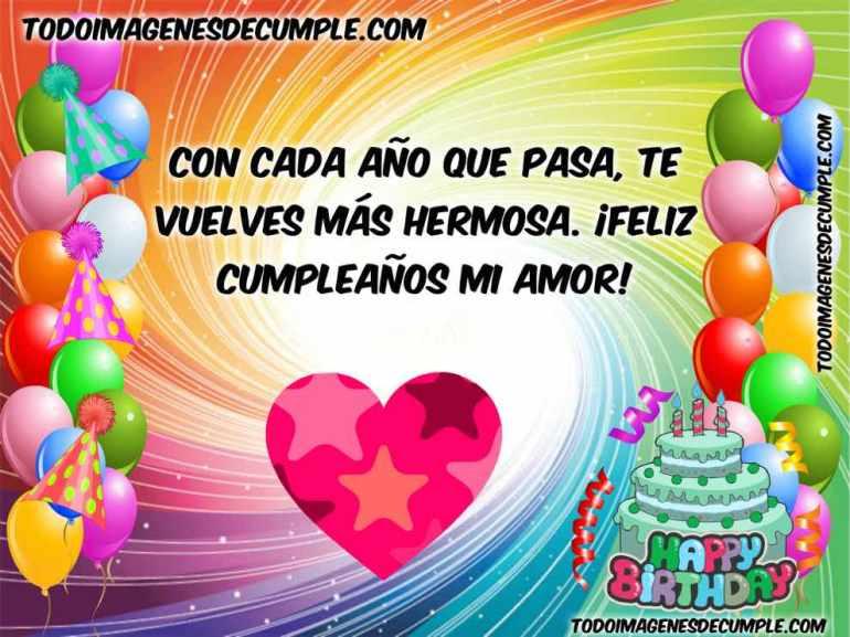 feliz cumpleaños mi amor