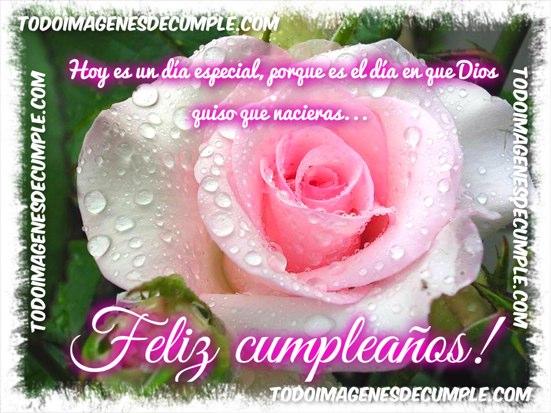 imagenes de feliz cumpleaños con flores y frase cristiana