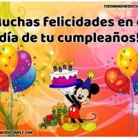 12 imágenes de feliz cumpleaños con Mickey