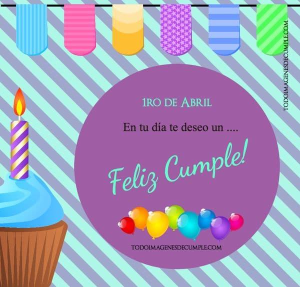 Imágenes Con El Día De Cumpleaños Mes De Abril