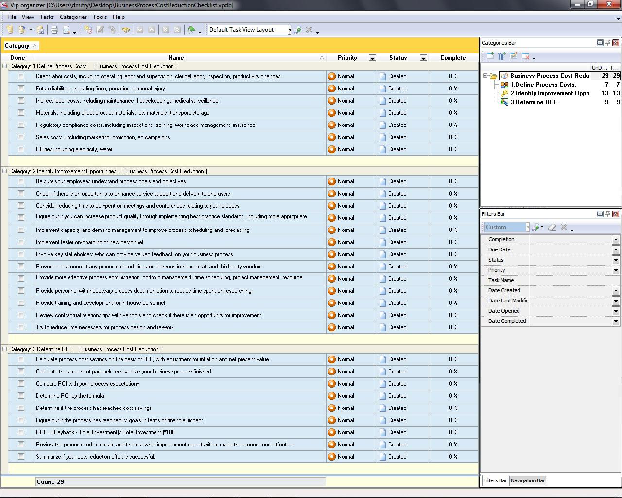Download Free Software Business Cost Template