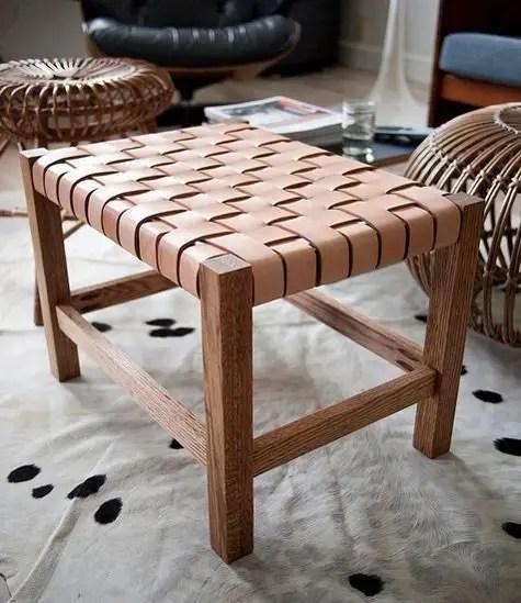 diy leather belt chair folding mechanism diagram como hacer un taburete de cuero | todo manualidades
