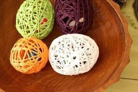 Como hacer un Huevo de pascua con lana