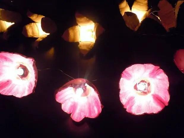 Como hacer flores con carton de huevo con luces  Todo