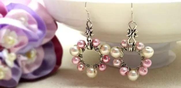 Como hacer aretes de perlas  Todo Manualidades