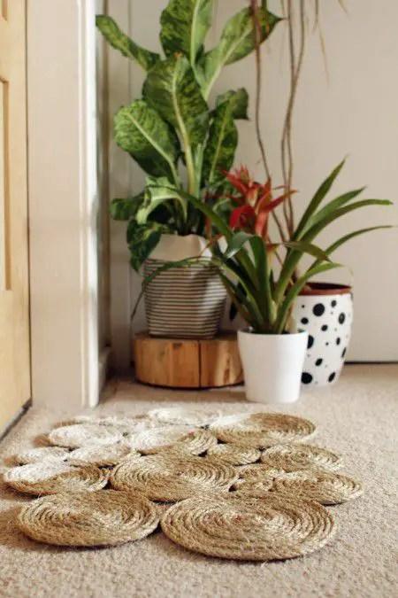 Como hacer una alfombra con hilo sisal  Todo Manualidades