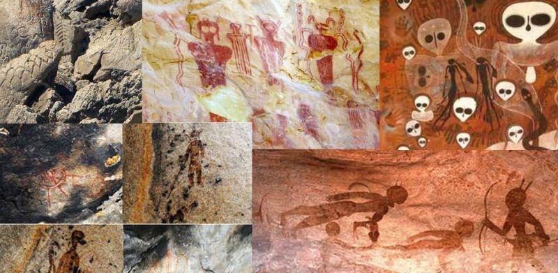 Pinturas antiguas de extraterrestres