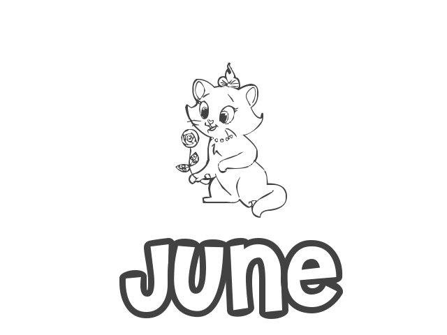 Nombre de Niña June, significado, origen y pronunciación