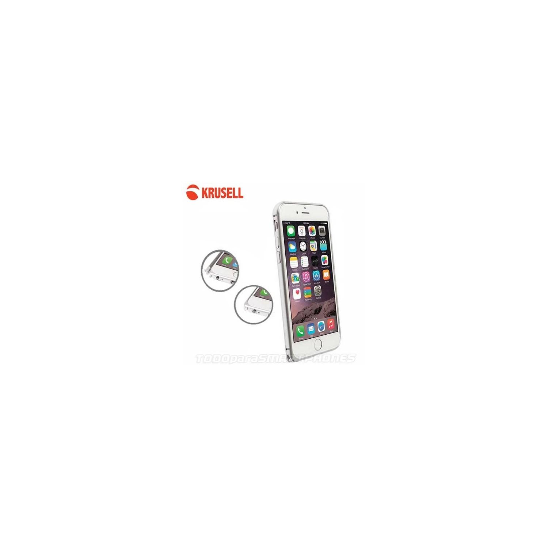 Funda KRUSELL iPhone 6s/6 PLUS PLATA AluBumper Aluminio