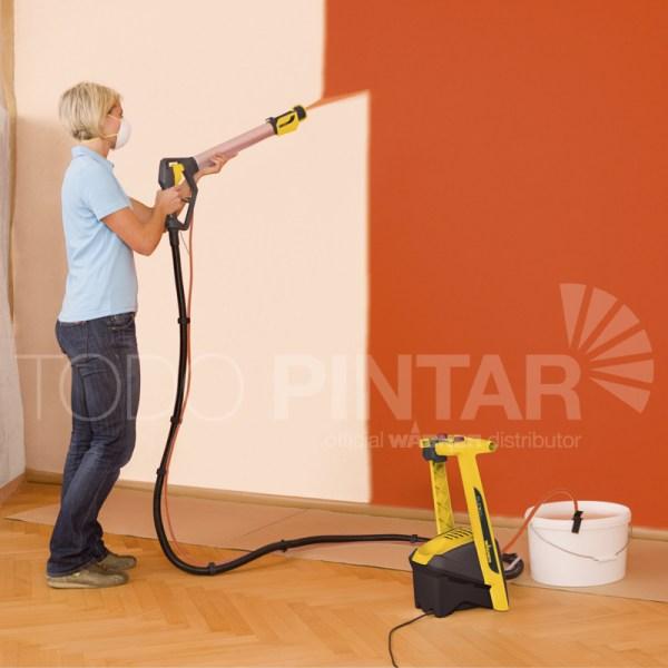 Pistola para pintar techos y paredes wagner w950 flexio - Maquina para pintar paredes ...