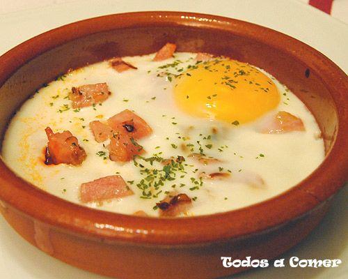 Receta Huevo al plato con pavo