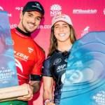 Caroline Marks y Gabriel Medina campeones en Narrabeen