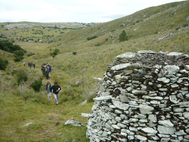 Montículos de piedras en Lavalleja