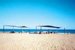 Bar en la playa de Oceanía del Polonio