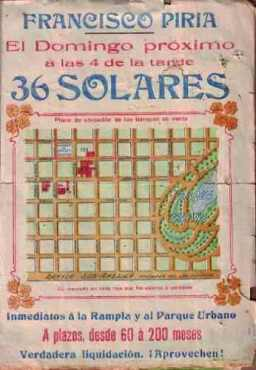 Venta de solares de Francisco Piria