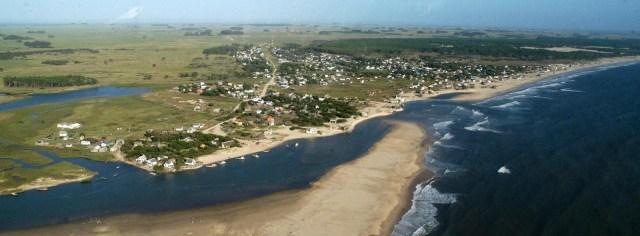 Vista aérea de Barra de Valizas
