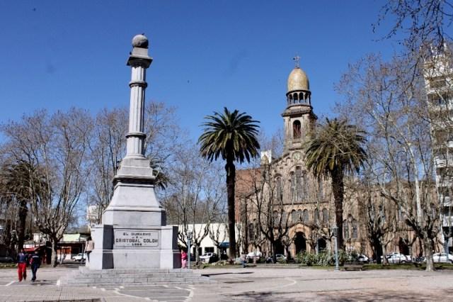 Monumento a Cristóbal Colón en Durazno