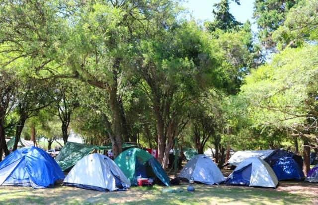 Carpas en Camping de las Cañas