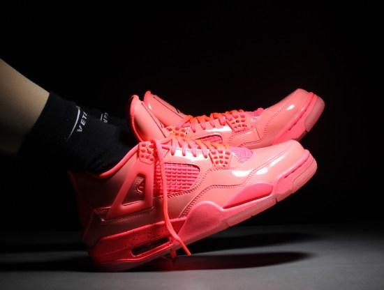 Air Jordan 4 Womens Hot Punch AQ9128 600 Release Date On Feet