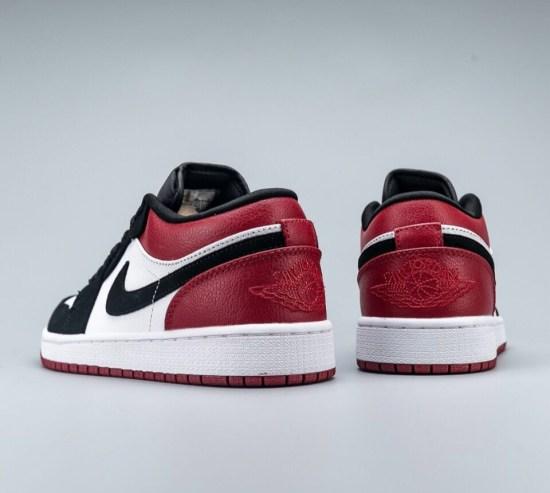 Jordan 1 low rojas negras blancas 4