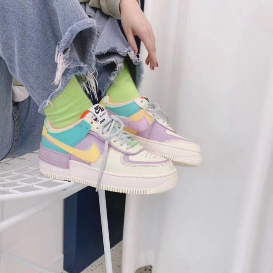 NIKE Air Force 1 Shadow Macaron Stitching Candy 3