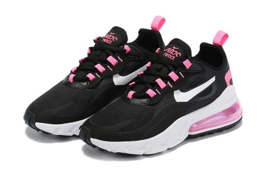 NIKE Air Max 270 React Negras y Rosas 2