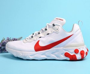 NIKE React ELEMENT 55 Blancas/Rojas