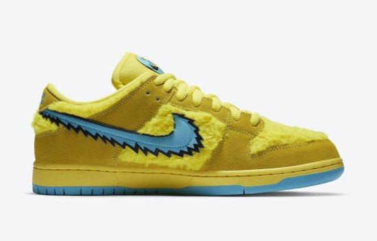 Nike SB Dunk Low Grateful Dead Bears Opti Yellow 1